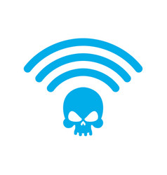 Wi-fi death wifi mortal wireless connection skull vector