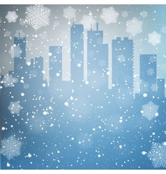 Winter city background vector