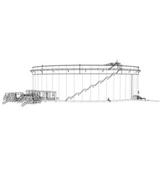 Wire-frame oil tank vector