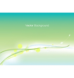 Abstract green template vector image vector image