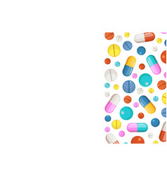 background with pharmaceutical elements vector image