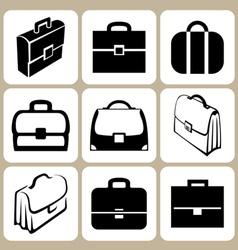 briefcase icons set vector image