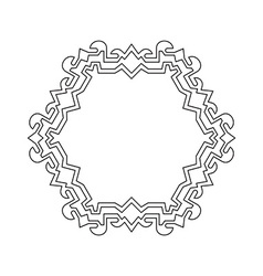 Decorative ornate Frame Border vector image vector image