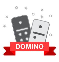 domino line icon outline of domino vector image vector image