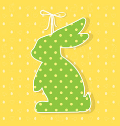 easter paper decoration in the form of bunny vector image vector image