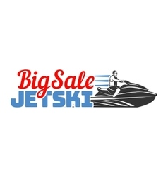 Jet Ski big sale logo badges and emblems isolated vector image