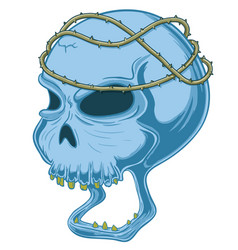 painful truth skull vector image vector image