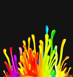 Colorful Drop Paint Splatter Background vector image vector image