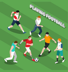disabled person playing soccer isometric vector image