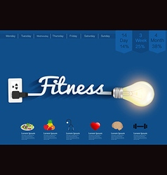 Fitness ideas concept creative light bulb design vector image