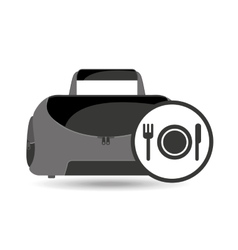 fitness sport bag icon food healthy vector image