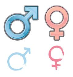 gender symbols vector image vector image