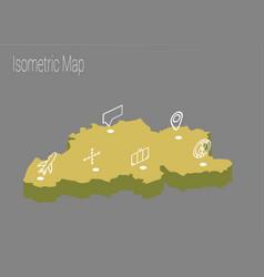 map belgium isometric concept vector image vector image