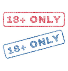 18 plus only textile stamps vector image vector image