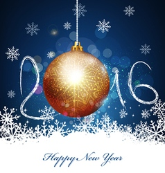Christmas background with a ball to a new 2016 vector image vector image