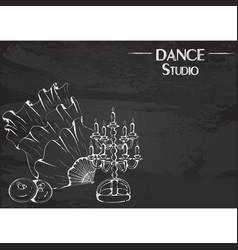 dance line chalk belly dance accessories vector image vector image
