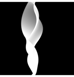 Delicate smoke waves on black background vector image vector image