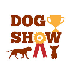 dog show award with ribbon canine animal design vector image vector image