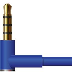 Headphone Jack in Blue vector image