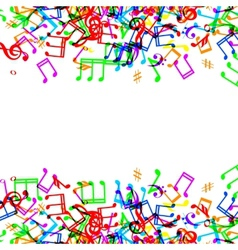 music notes border vector image