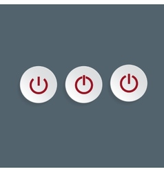 Power buttons for web vector image