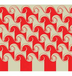 Asian waves pattern vector image vector image