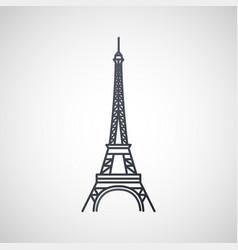 eiffel tower logo icon design vector image