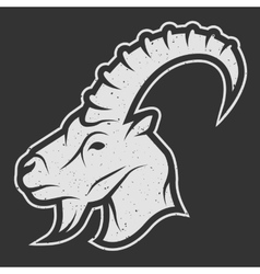 Goat symbol the logo for dark background vector image vector image