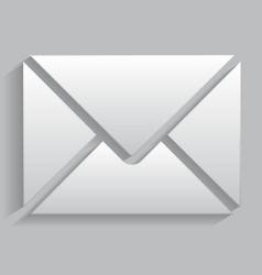 icon envelope with realistic shadows vector image vector image