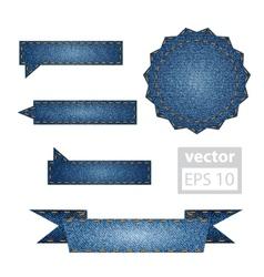 Jeans design elements vector image