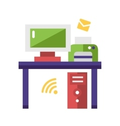Work Place flat design single icon vector image