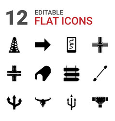 12 path icons vector