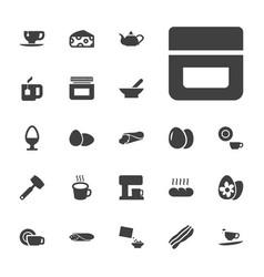 22 breakfast icons vector