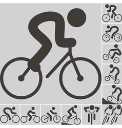 2292 set cycling icons vector