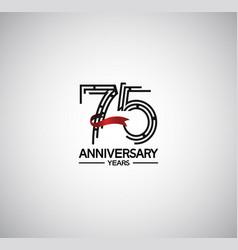 75 years anniversary logotype flat design vector