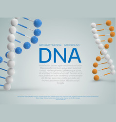 Abstract colorful medical background with 3d dna vector