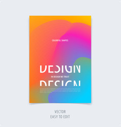Abstract colourful graphic design of brochure in vector