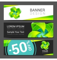 abstract ecology concept background design banner vector image