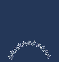 Abstract graphic is a lace plant-based frame vector