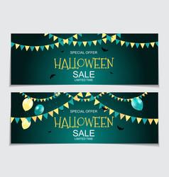 abstract halloween sale vector image