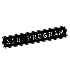 AID Program rubber stamp vector
