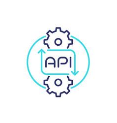 Api line icon for web vector