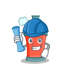 architect aerosol spray can character cartoon vector image