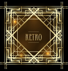 art deco vintage patterns and design elements vector image