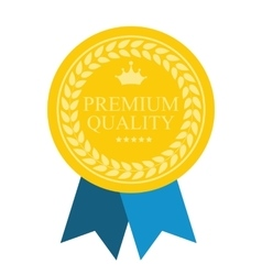Art Flat Premium Quality Medal Icon for Web Medal vector image