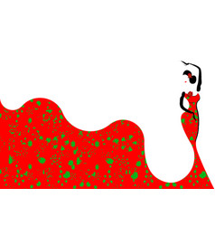 beautiful young woman hispanic flamenco dancer vector image