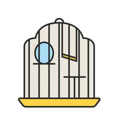 Birdcage color icon vector