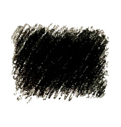 Black crayon scribble texture stain isolated vector