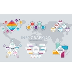 Business infographics modern concept set vector