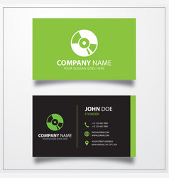 Cd disc icon business card template vector